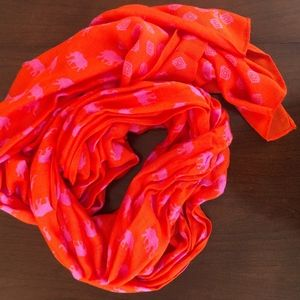 Stella & Dot Orange and pink elephant scarf / wrap